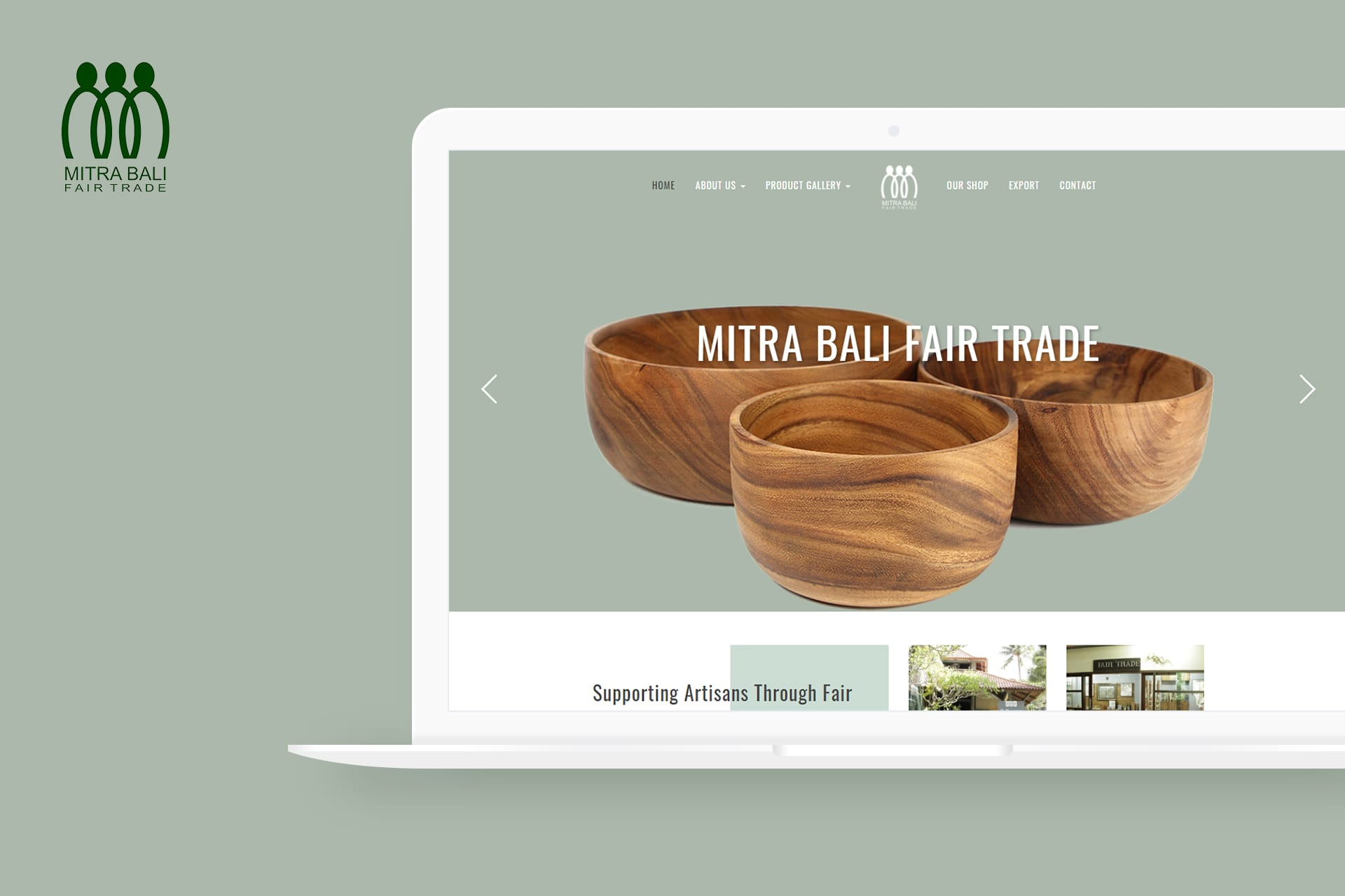 Mitra Bali Fair Trade Website