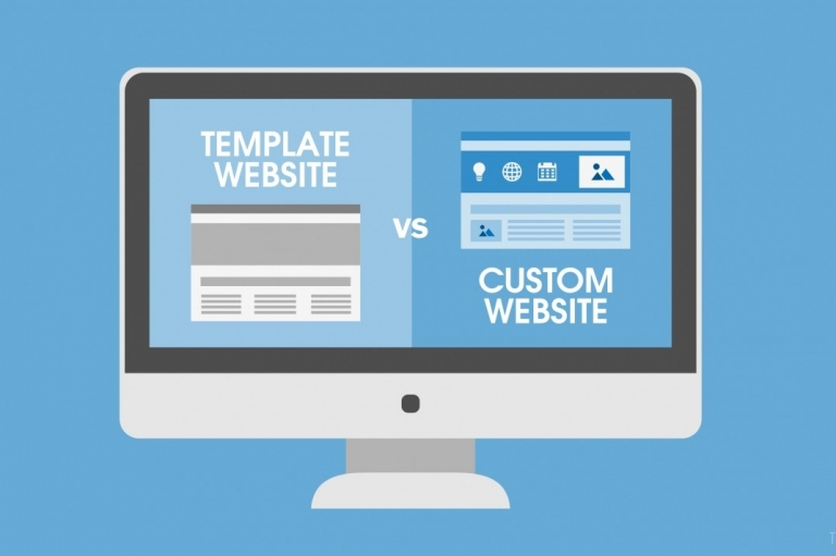 Custom Design Website VS Template Website. Which one is more suitable for you?