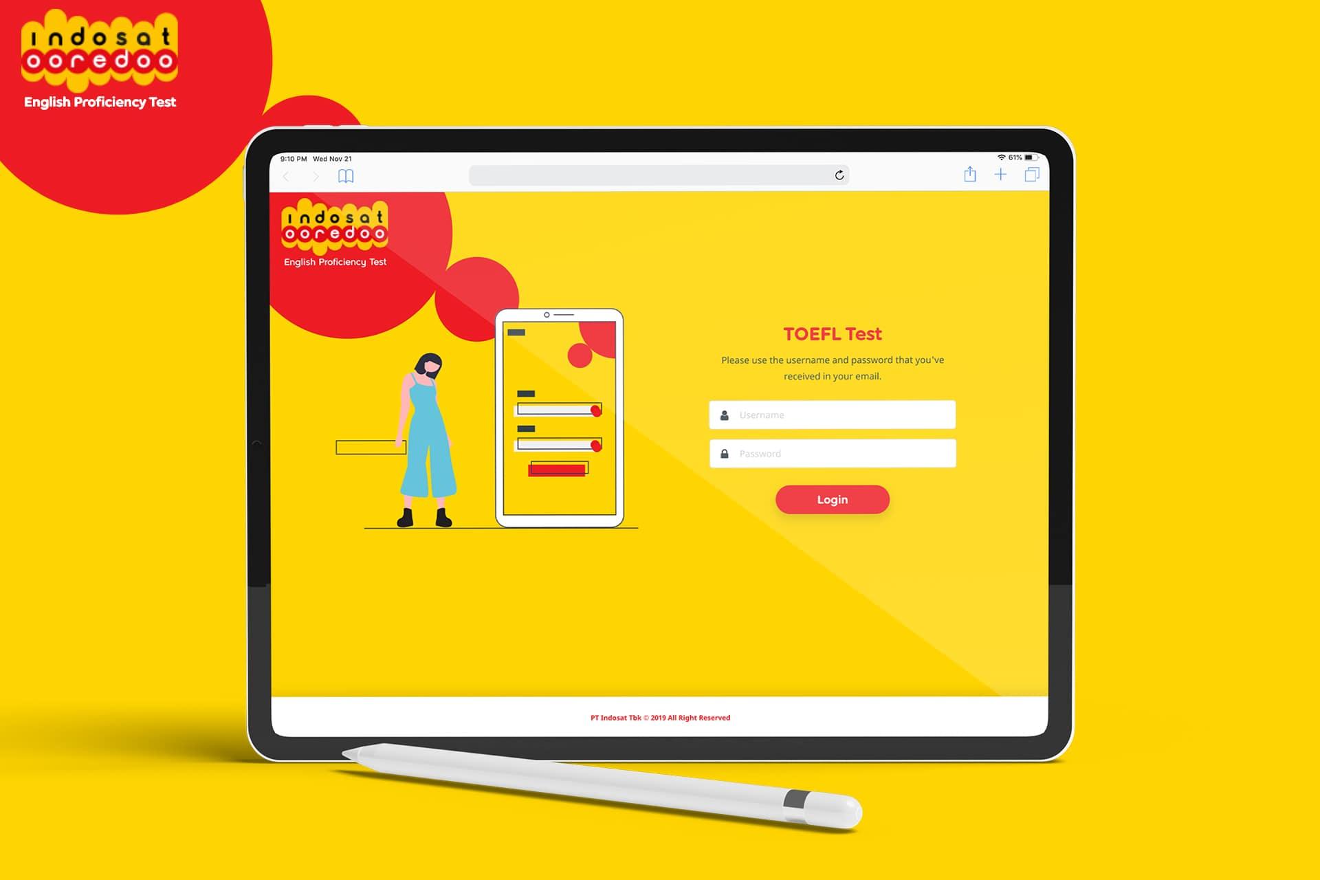 Online Test Website for Indosat Ooredoo